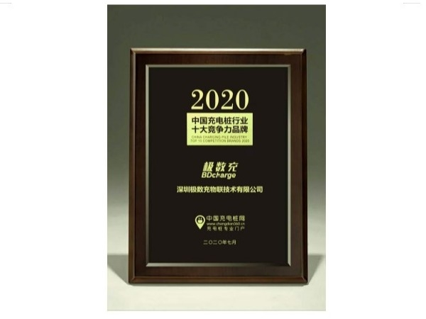 2020 Top Ten Competitive Brands in Chinas Charging Pile Industry