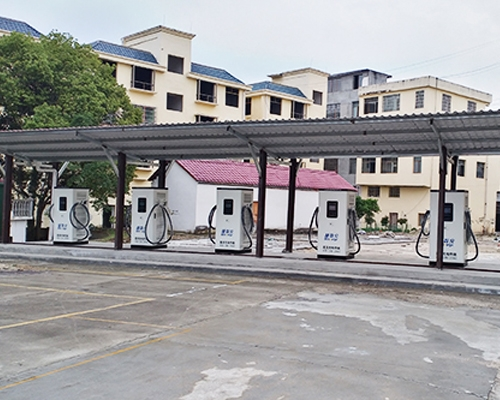 The bus charging station project in Bailing Town, Xiushui County, Jishu County was launched