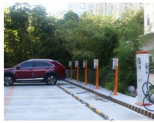 BDcharge community electric bicycle charging station in Fuping County, an old revolutionary district, put into operation